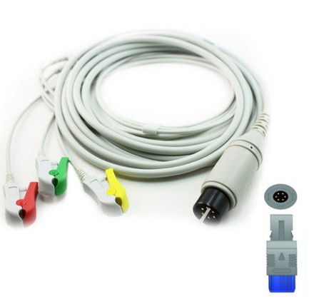 Cabo Paciente 3 Vias Compatível com BIOSYS Tipo Neo Pinch Encaixe EPX-C309-N - Vepex