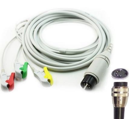 Cabo Paciente 3 Vias Compatível com CMOS DRAKE Tipo Neo Pinch Solda EPX-C314-NS - Vepex