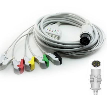 Cabo Paciente 5 Vias Compatível com ANAMED Tipo Neo Pinch Solda EPX-C502-NS - Vepex