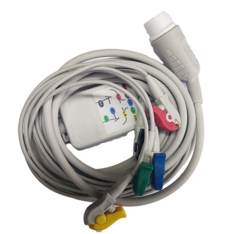 Cabo Paciente ECG 5 vias Para Cardioversor Cmos Drake VIVO / LIFE 400 Plus Futura