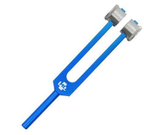 Diapasão Médico MD em Alumínio Azul 256 com Fixador