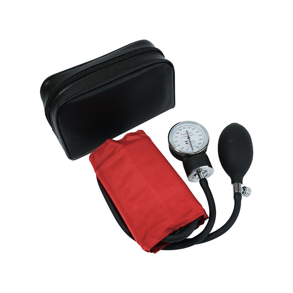 Esfigmomanômetro Adulto Algodão Fecho Velcro - Premium - Vermelho