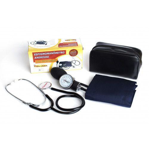 Esfigmomanômetro Aneróide + Estetoscópio - Premium