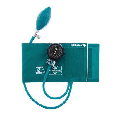 Esfignomanômetro Adulto Nylon Fecho de Contato – BIC Verde