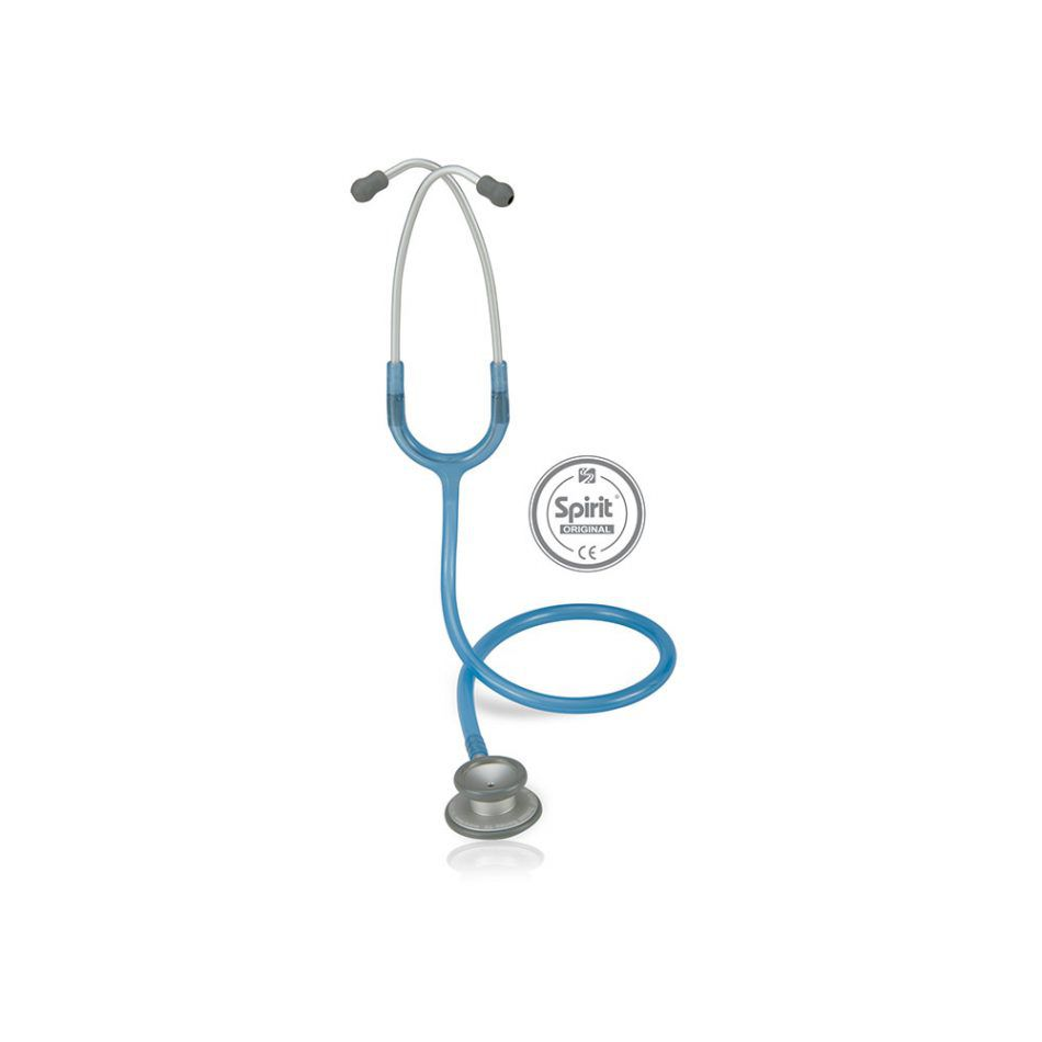 Estetoscópio Spirit® Pro-Lite Azul Royal Transparente