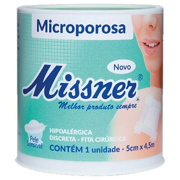 Fita Microporosa Missner 5 cm x 4,5 m