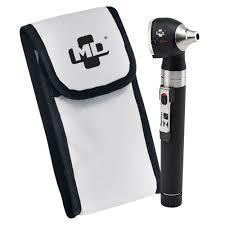 Kit Otoscópio + Oftalmoscópio MD OMNI 3000 Xenon Preto Estojo Macio