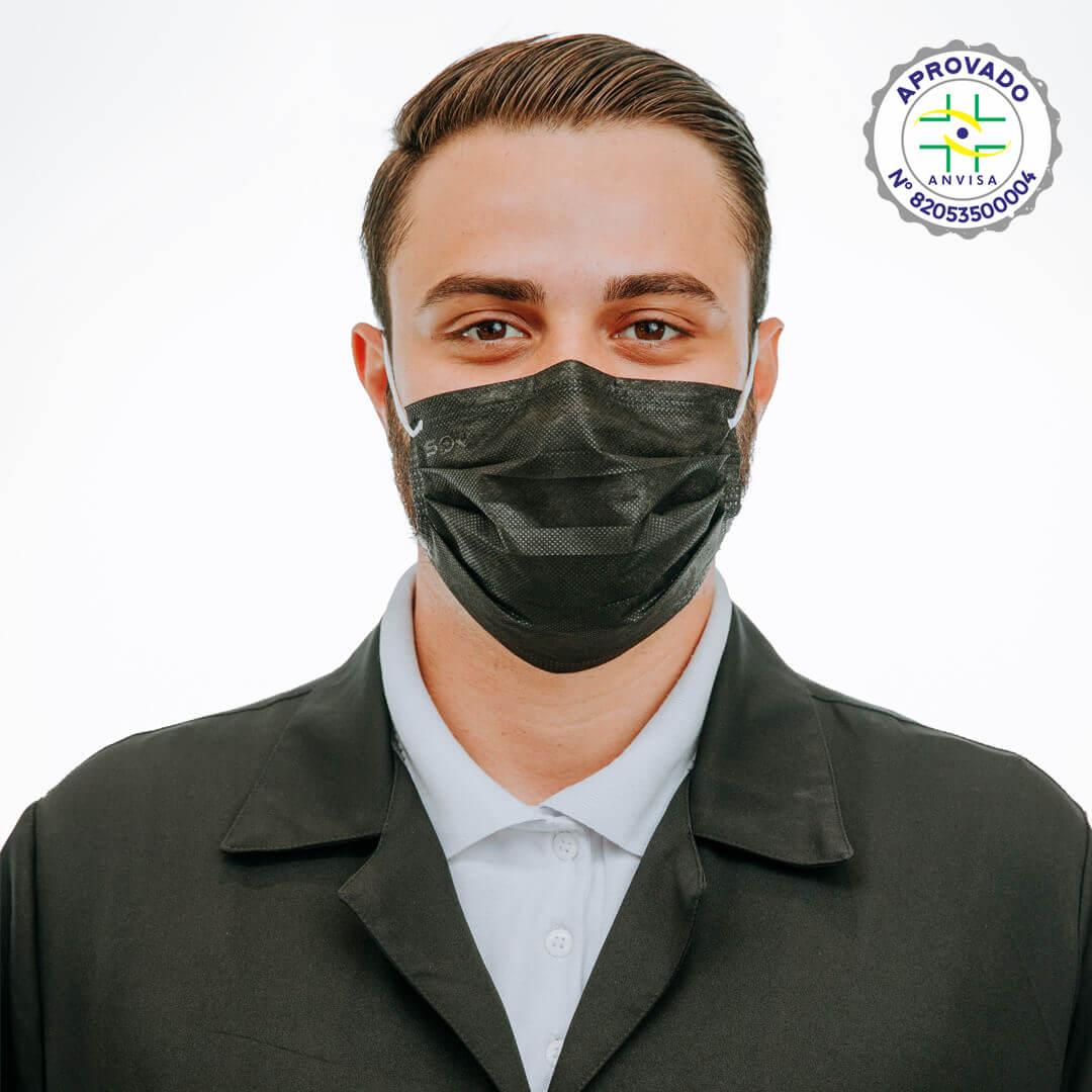 Máscara Cirúrgica Descartável Preta – SP Protection