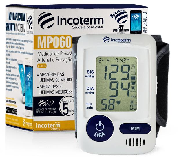 Medidor de Pressão Digital de Pulso MP060