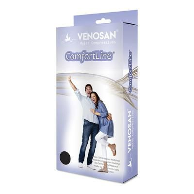 Meia Venosan Comfortline 20-30 3/4 Pé Aberto Bege