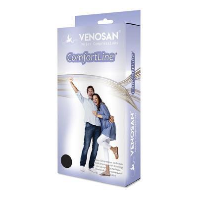 Meia Venosan Comfortline 30-40 3/4 Pé Aberto Bege