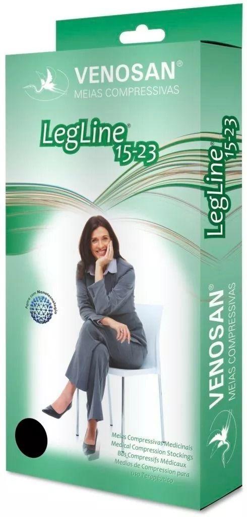 Meia Venosan Legline 3/4 15-23 Pé Aberto