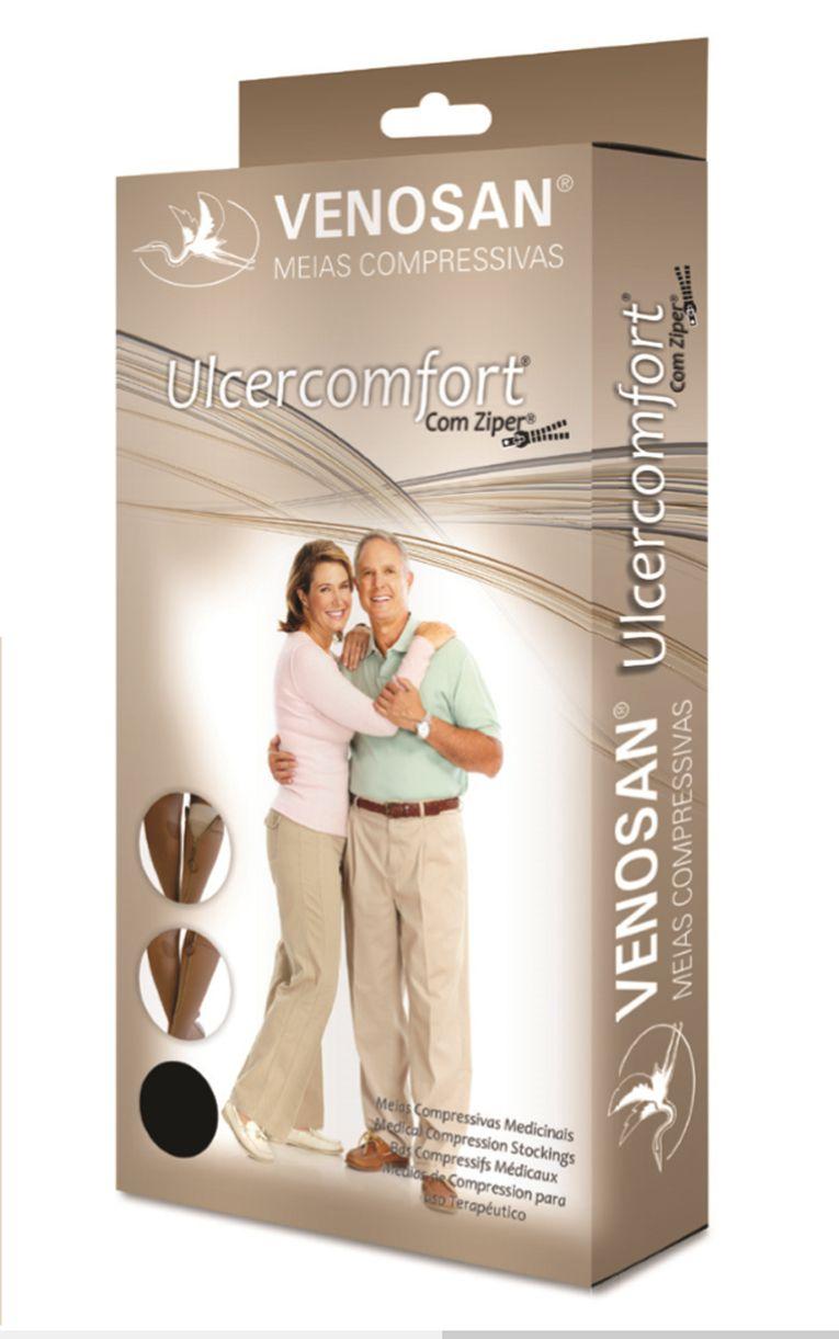 Meia Venosan Ulcercomfort 30-45mmhg 3/4 Curta Bege