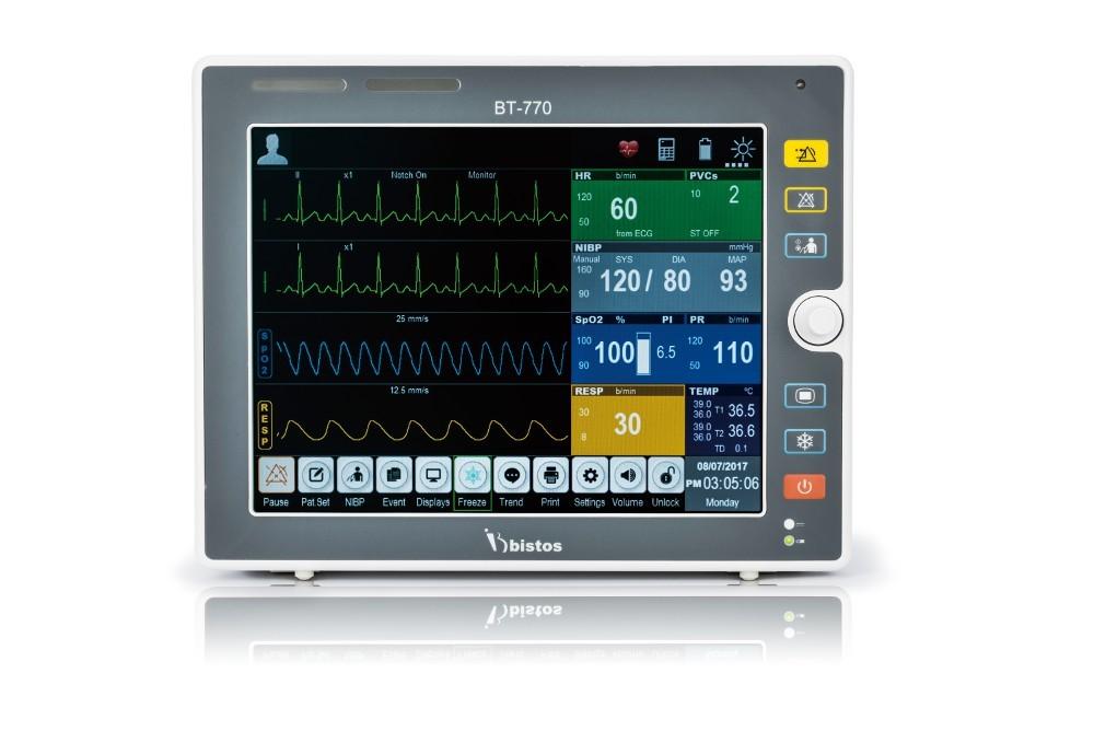 """Monitor Multiparâmetro 12.1"""" BT-770 - Bistos(ECG / SPO2 / RESP / TEMP / PNI / PI / ETCO2)"""
