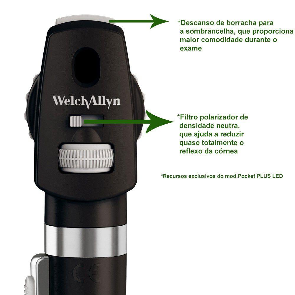 Oftalmoscópio Pocket Led - Welch Allyn - Branco