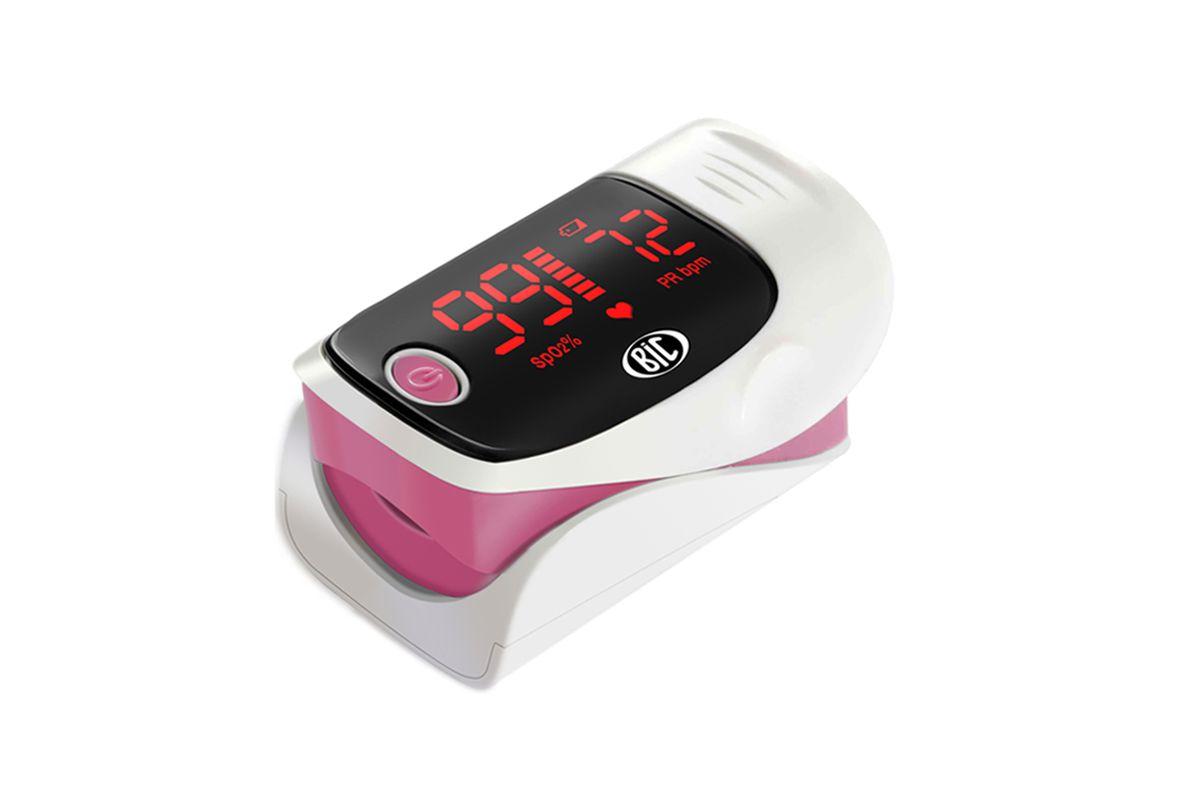 Oxímetro de Pulso Bic Monitor de Dedo Rosa - YK-80A - Adulto