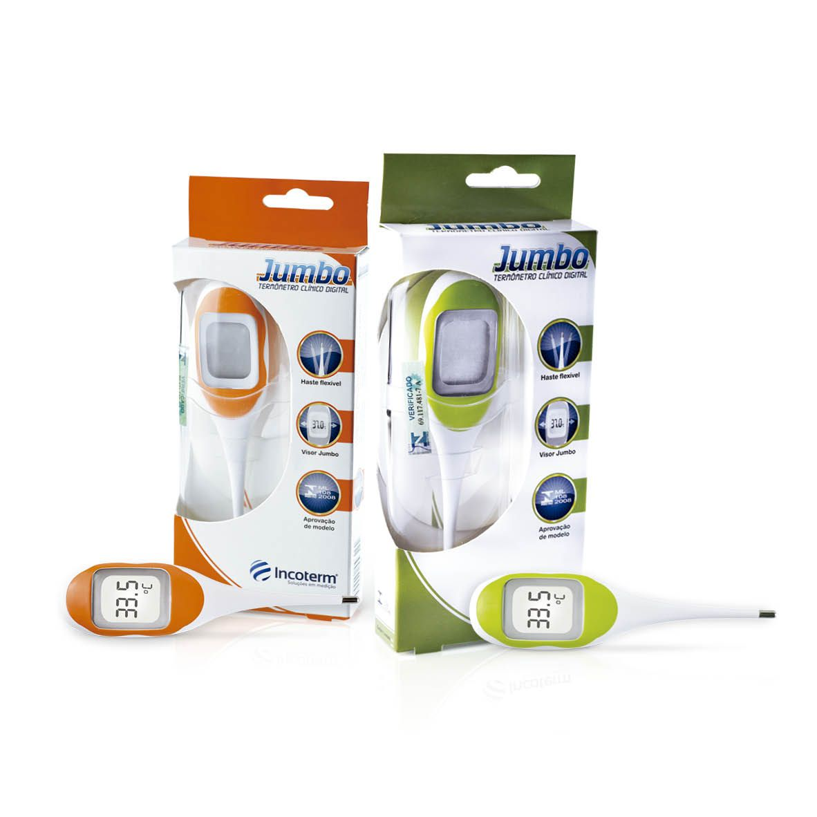 Termômetro Clínico Digital Jumbo - Laranja