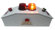 Quiz recreativo Passa ou Repassa lanterna laranja e vermelha