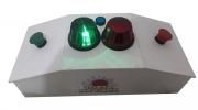 Quiz recreativo Passa ou Repassa lanterna verde e vermelha