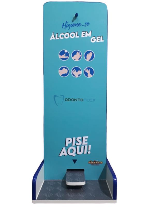 Suporte totem alcool gel Kit 2 Unidades