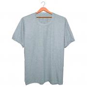 Camiseta Masculina Básica - Cinza Claro