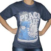 Camiseta Feminina All Star Azul