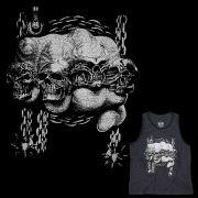 Camiseta Regata Masculina Anéis de Caveira