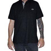 Camisa Polo Masculina NH - Preta