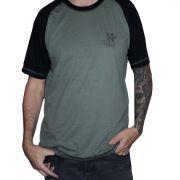 Camiseta Raglan Masculina NH - Preto e Verde