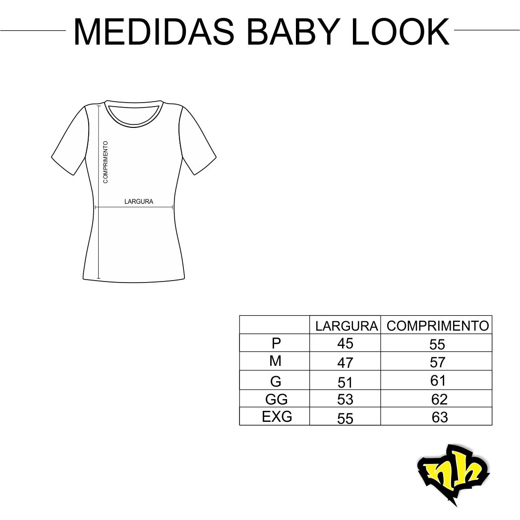 Camiseta Baby Look Feminina Básica - Branca