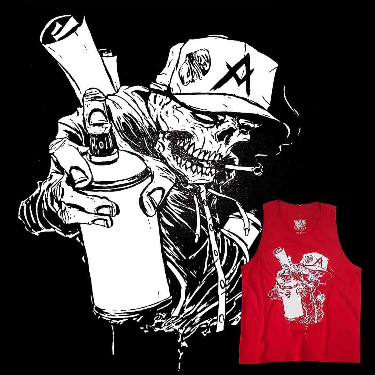 Camiseta Regata Masculina Caveira Grafiteira