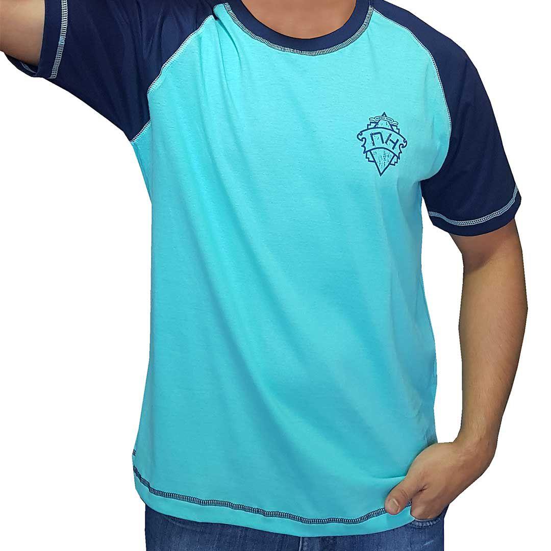 Camiseta Raglan Masculina NH - Azul e Azul