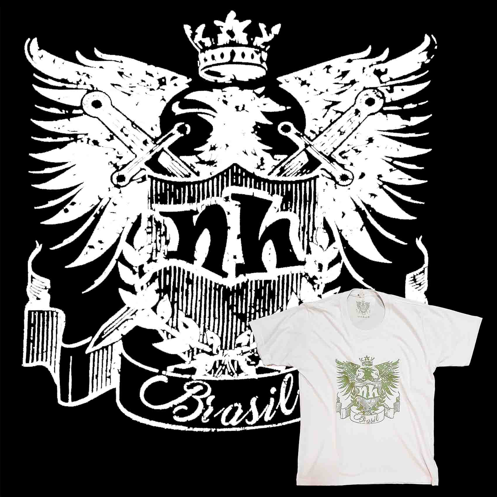 Camiseta Masculina NH - Brasão