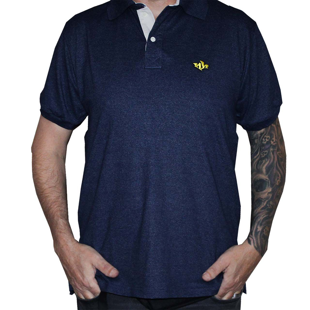 Camisa Polo Masculina NH - Azul Marinho