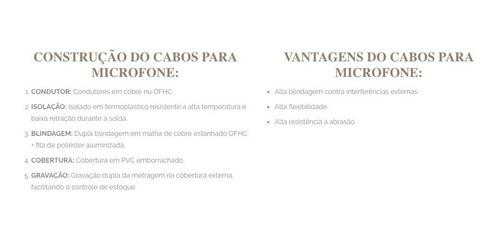 100 Metros Cabo Microfone Balanceado Dmx P/ Longa Distancia