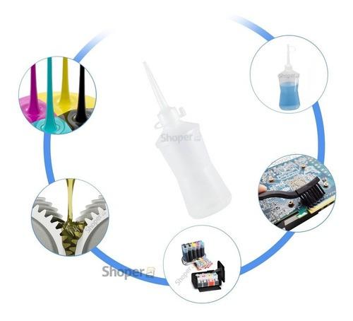 Kit Com 6 Frascos Almotolia Para Liquidos 500ml C/ Bico Aplicador