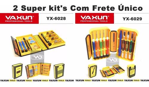 2 Kits Chaves Yaxun - Yx6028 + Yx6029 + Par De Pinças Esd