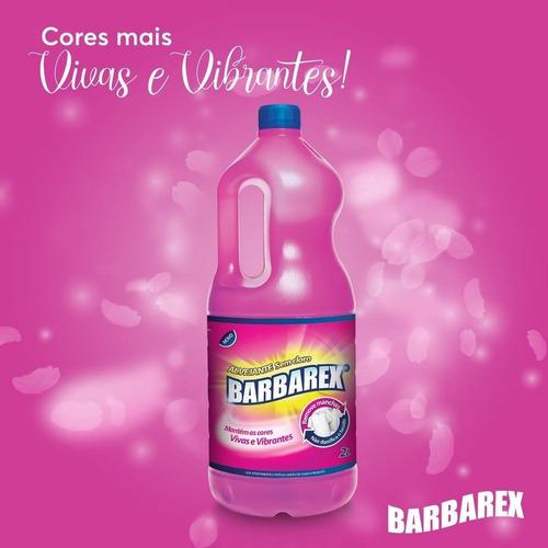 2 Litros Alvejante Liquido Sem Cloro Múltipla Ação Barbarex