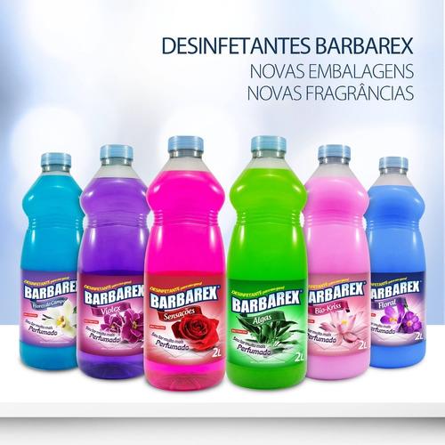 2 Litros Desinfetante Bactericida 10 Fragâncias P/ Escolha