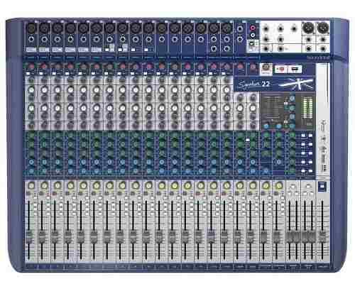 Mesa De Som Signature Mk2 Mtk 22 Canais Soundcraft