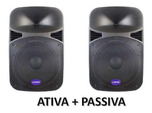 Kit Som Caixa Starline 12d Ativa 12 + Passiva 12 200w Nenis