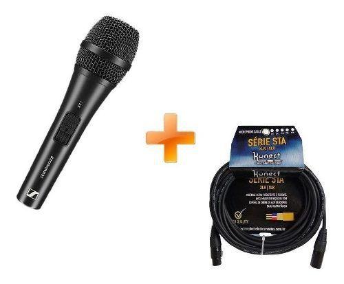 Kit Microfone De Mão Xs1 Vocal Sennheiser + Cabo Xlr 4,57mt
