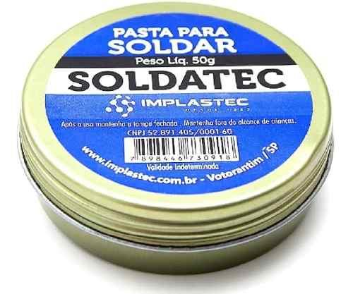 Pasta de Solda Soldatec 50g para Processos de Soldagem - Original Implastec