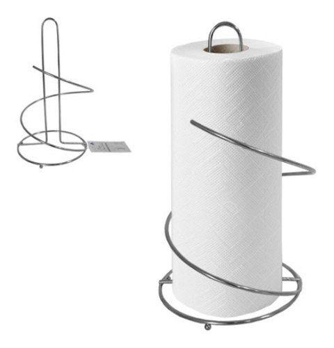 Porta Rolo De Papel Toalha - Metal Cromado Kit C 10 Unidades