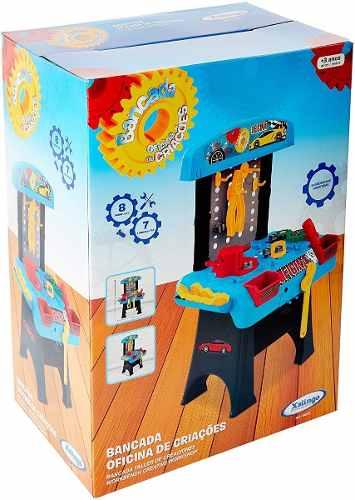 Brinquedo Bancada Oficina De Criações Ferramentas