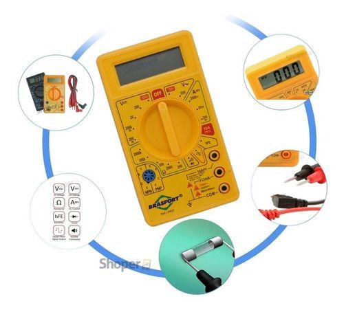Multimetro Digital C/ Beep Sonoro Continuidade Cat I DT-830