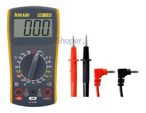 Multimetro Digital Hikari C/ Display Luminoso E Beep Sonoro HM-1100