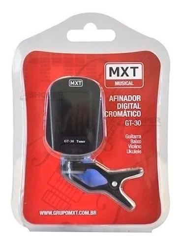 Afinador Digital Para Violão Guitarra Baixo Mxt Gt-30 Tuner