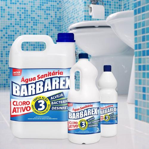 Água Sanitária Com Cloro Ativo Barbarex Tripla Ação 2 Litros