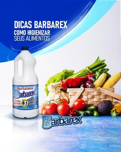 Água Sanitária Com Cloro Ativo Barbarex Tripla Ação 5 Litros
